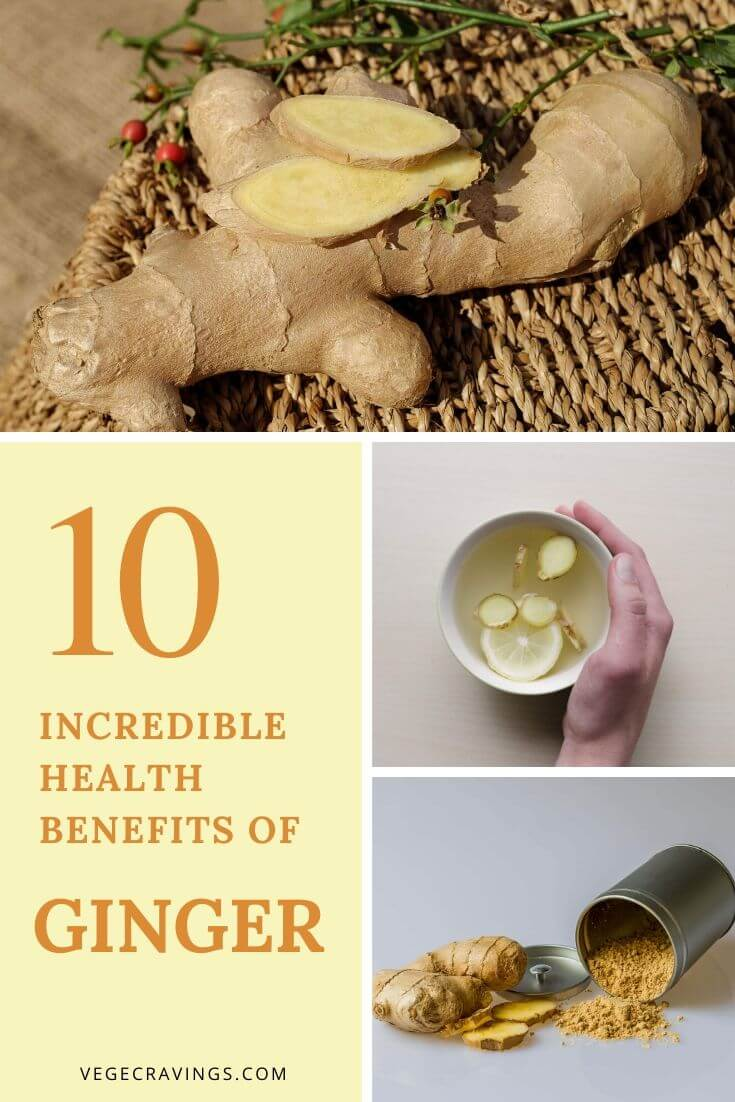 Ginger not only adds great flavor to food, but also has numerous health benefits and anti-inflammatory, anti-oxidant & anti-tumor properties.
