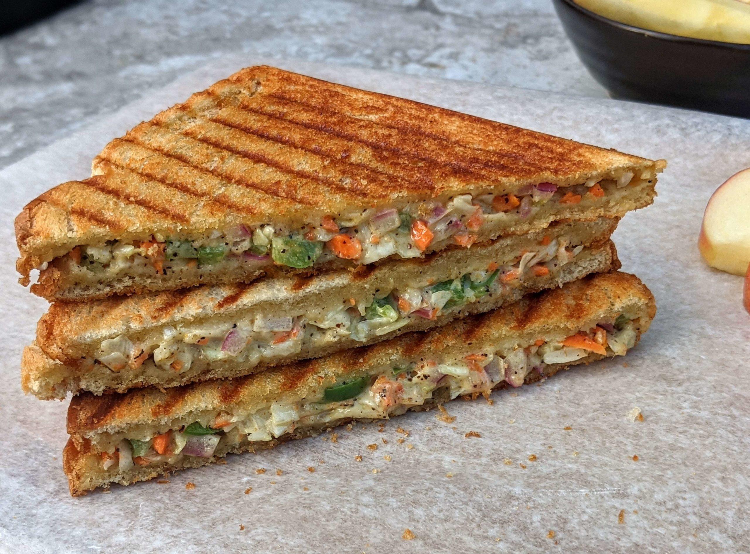 Mayonnaise Sandwich Recipe Veg Mayo Sandwich Vegecravings