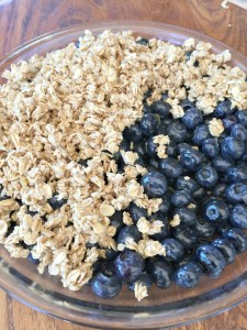 Blueberries with Crumble Topping