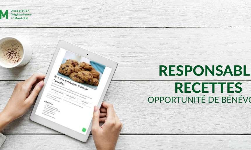 Bénévoles recherchés pour développer des recettes