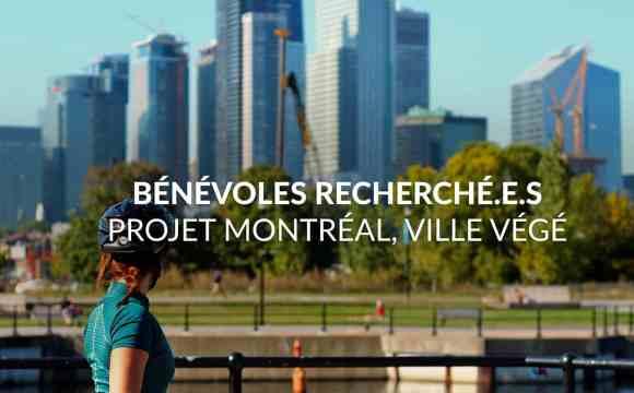 Bénévolat pour le projet «Montréal, ville végé»
