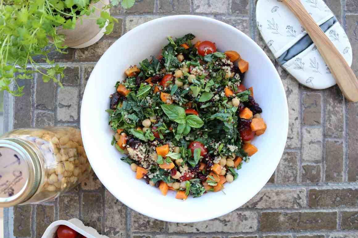 Salade de quinoa et patates douces