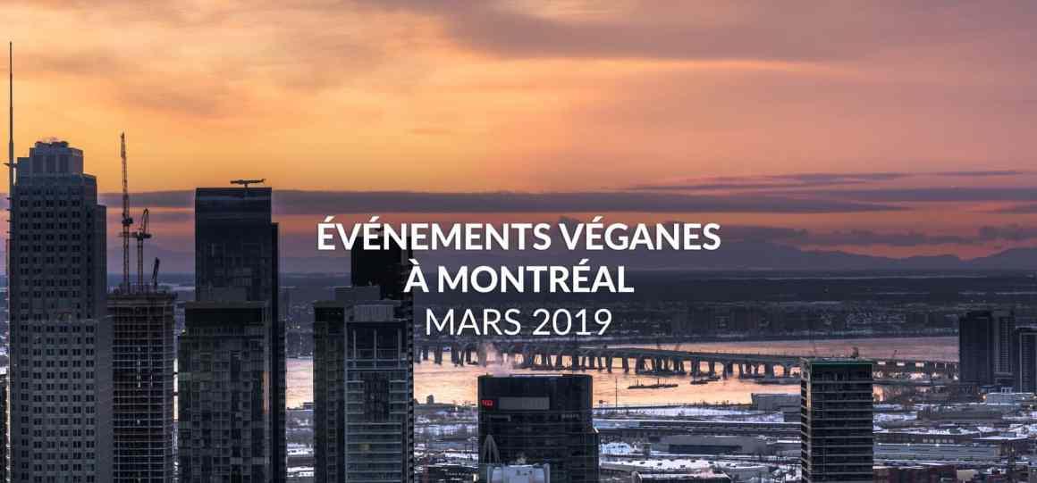 Événements véganes de mars 2019 à Montréal