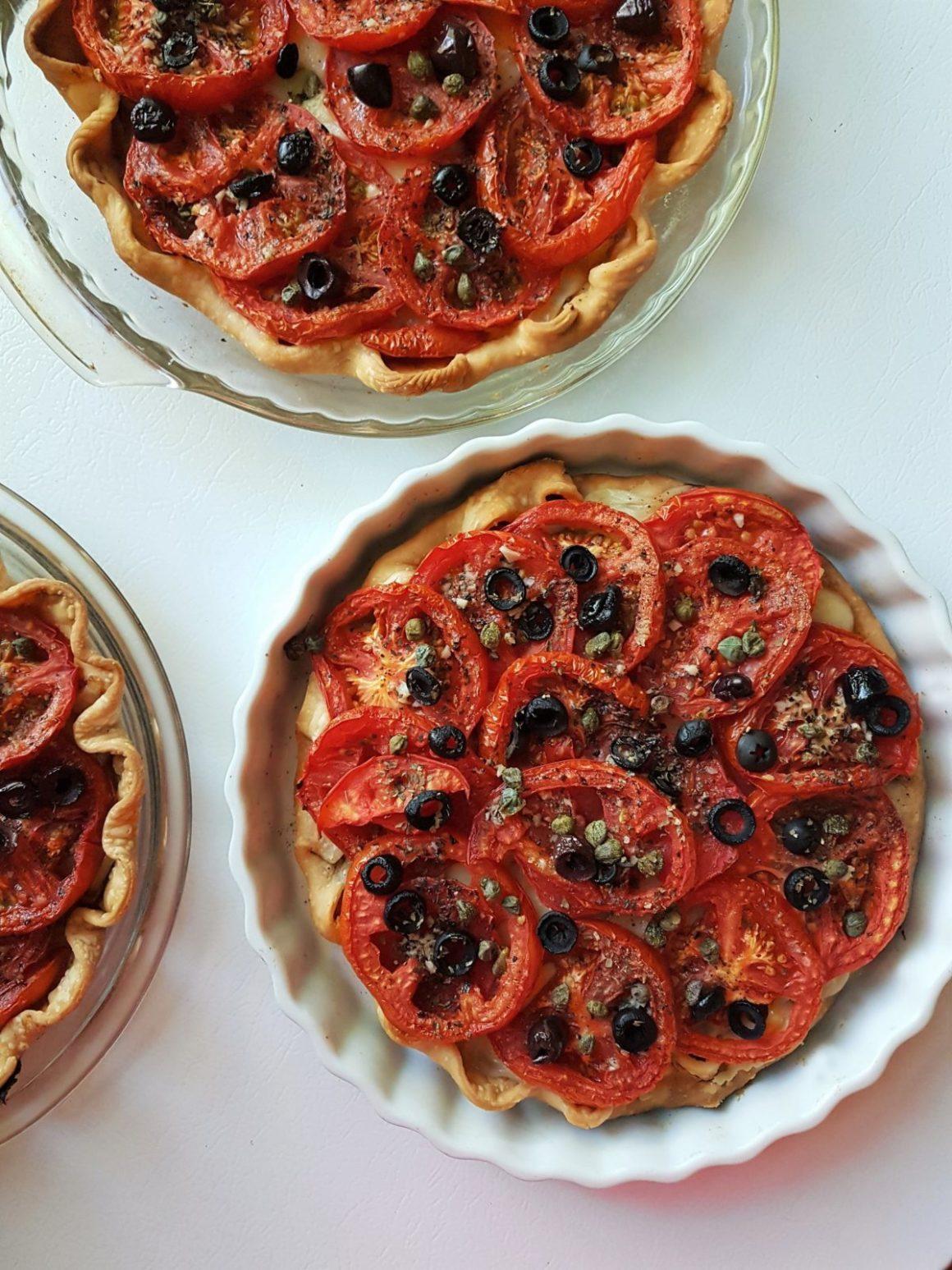 Tarte provençale aux tomates