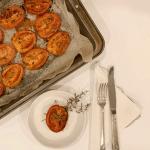 Tomates au four à l'ail et au thym