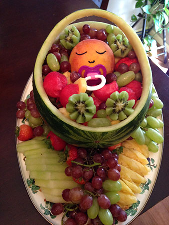 Baby Shower Watermelon Carving : shower, watermelon, carving, Watermelon, Carriage, Fancy, Variations, Nita's