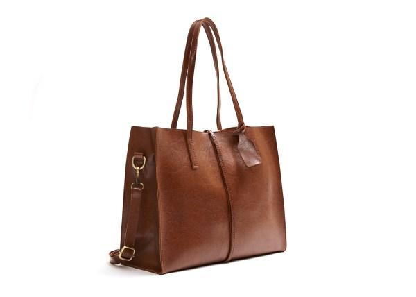 Vegan Leather Tote Handbag