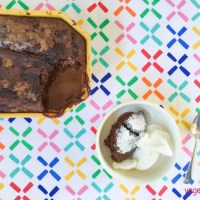 Chocolate and raspberry self-saucing pudding