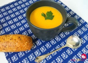 Maple roasted pumpkin soup