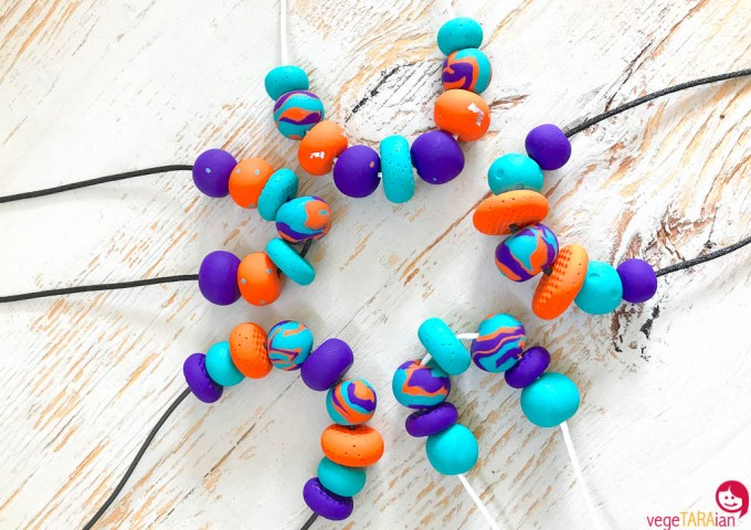 Etsy store restock – teal, purple and orange necklaces