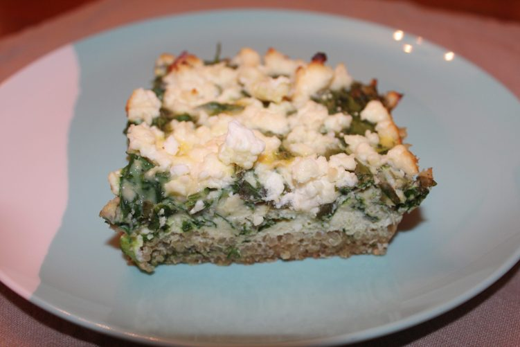 Spinach Quiche-oa recipe by Vegetarian Atlas.