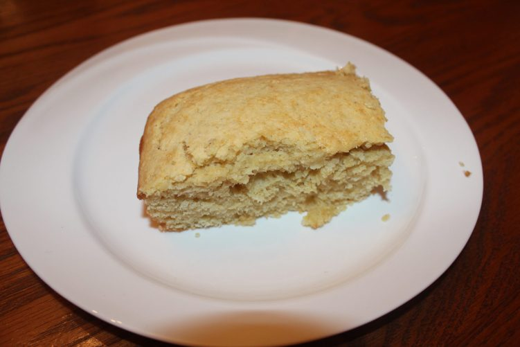 Sweet Cornbread recipe by Vegetarian Atlas.