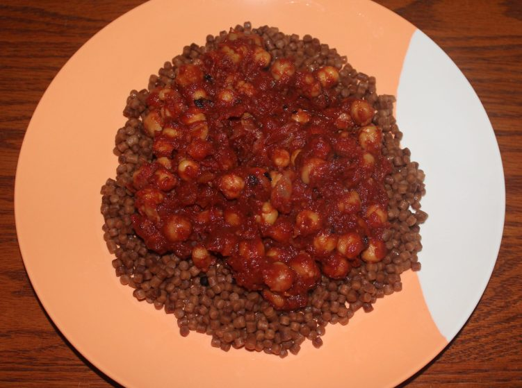 Chickpea and Date Tagine recipe by Vegetarian Atlas.