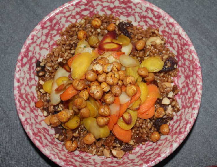 Sweet and Savory Wheat Berries recipe by Vegetarian Atlas.