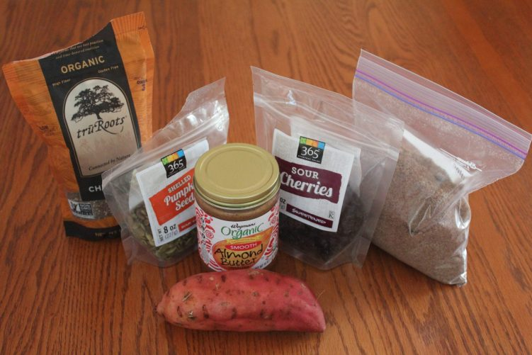 Ingredients for sweet potato bombs