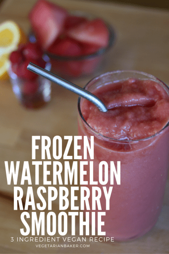 How To Make Frozen Watermelon Raspberry Smoothies