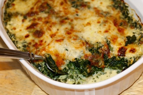 Super-Easy Baked Spinach