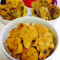 VEGETABLE PAKORA WITHOUT DEEP FRYING