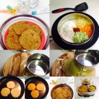 BAJRA MASALA ROTI FOR BREAKFAST/KIDS LUNCH BOX/LUNCH/DINNER WITH INSTANT ZUCCHINI SAMBAR