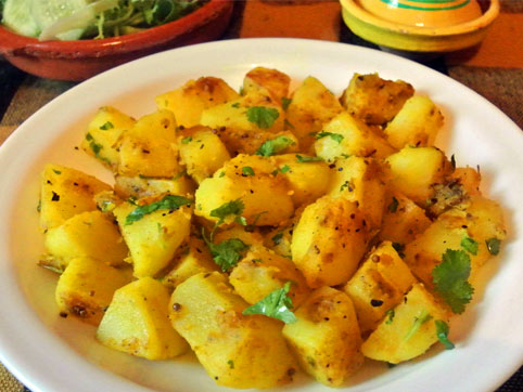 Aloo Masala  Patatas al estilo de la India  recetas