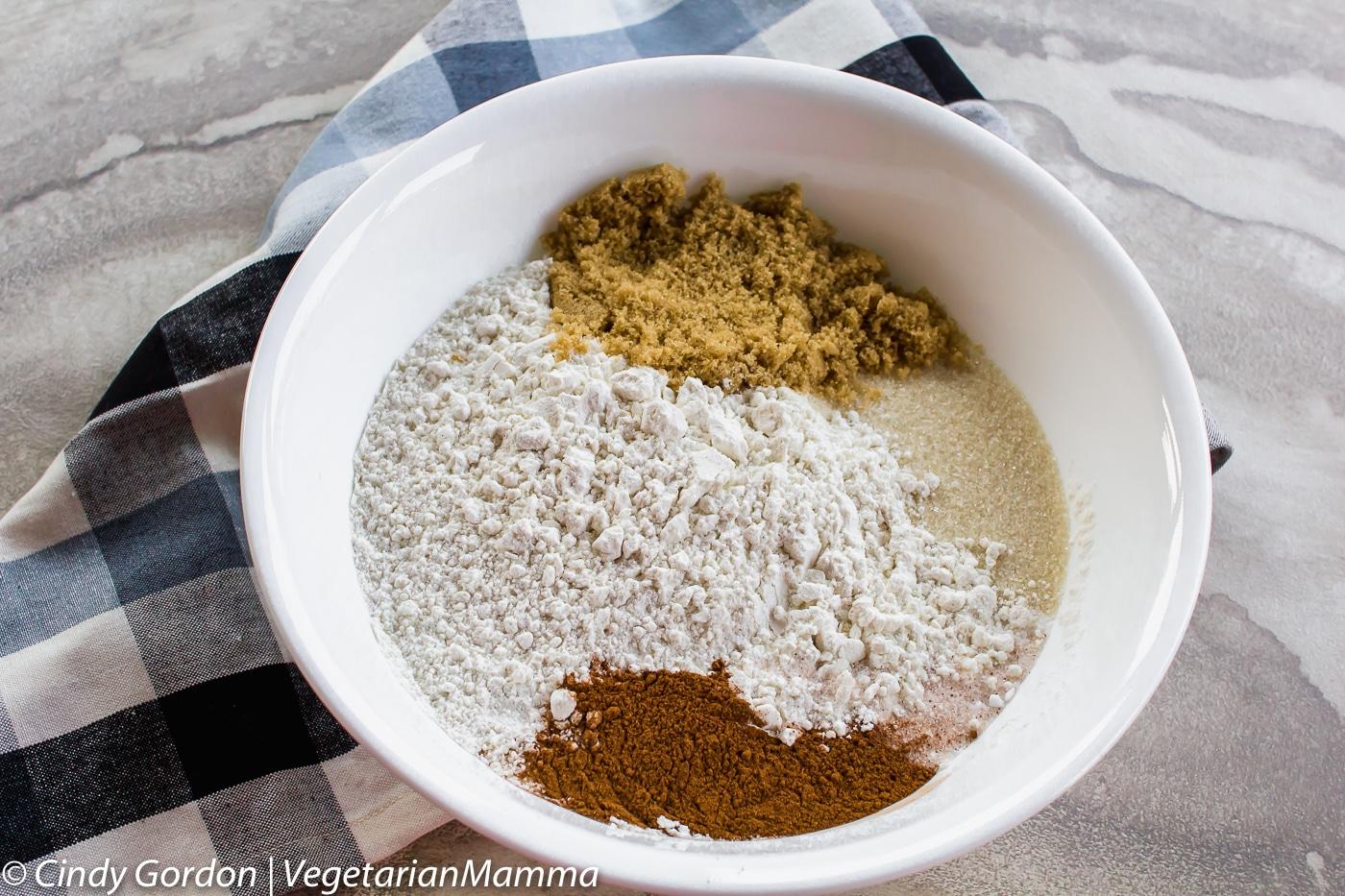 Dry ingredients for Gluten Free Pumpkin Bread