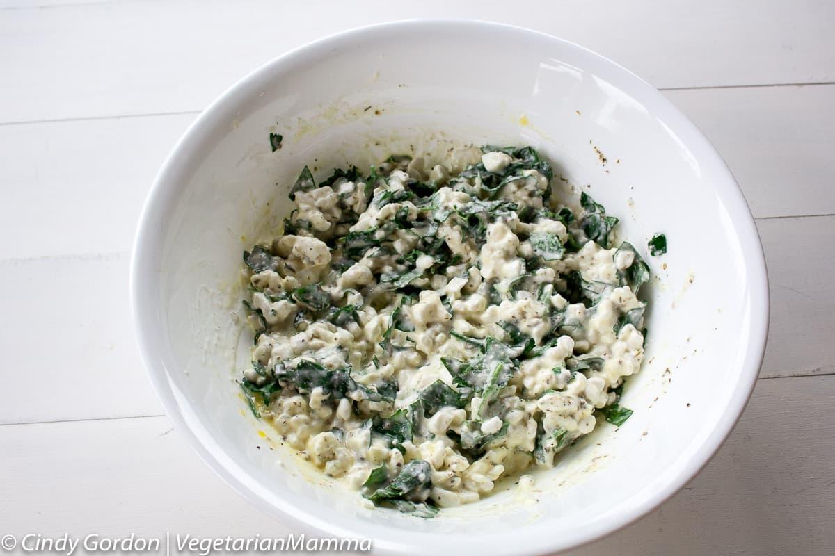 ricotta mixture for spinach mushroom lasagna