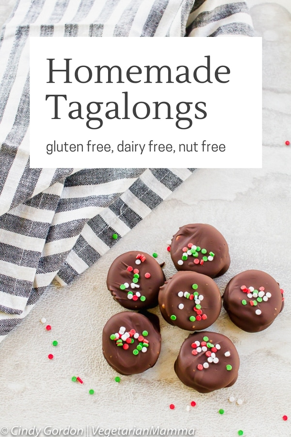 Homemade Gluten Free Tagalong Cookies pin
