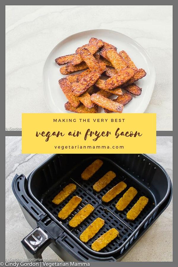 vegan bacon air fryer bacon pin