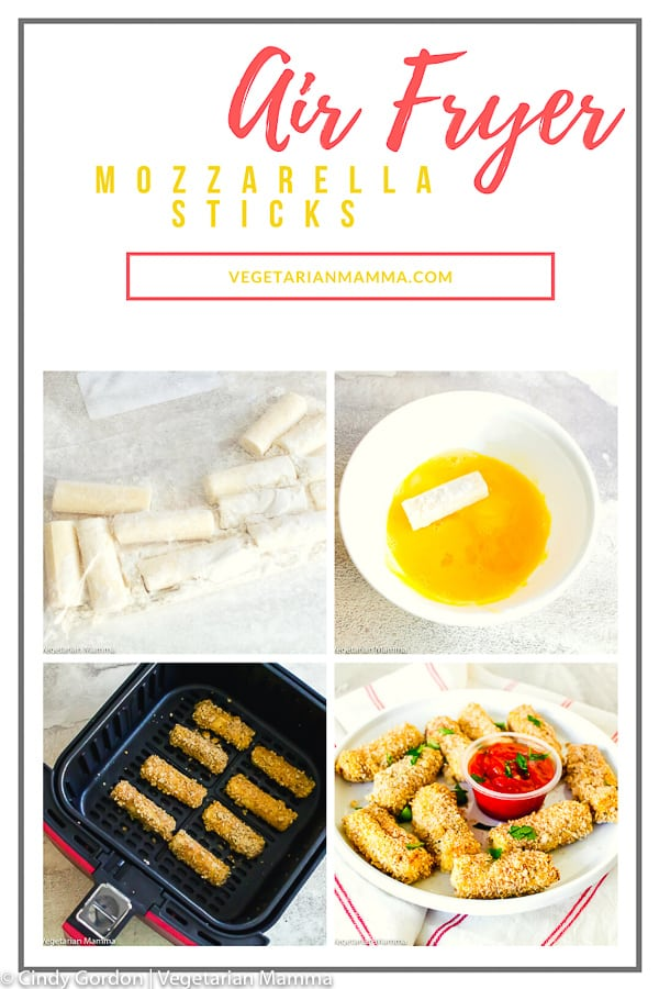 Air Fryer Mozzarella Sticks are easy to make and taste amazing! Who knew that mozzarella sticks in the air fryer would taste so delicious! Ditch that deep fry and learn how to make mozzarella sticks without all that oil! #airfryerrecipe #airfryermozzarellasticks
