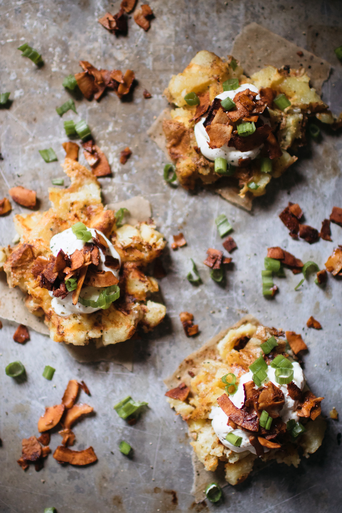 Vegetarian Baked Potato Waffles With Coconut Bacon