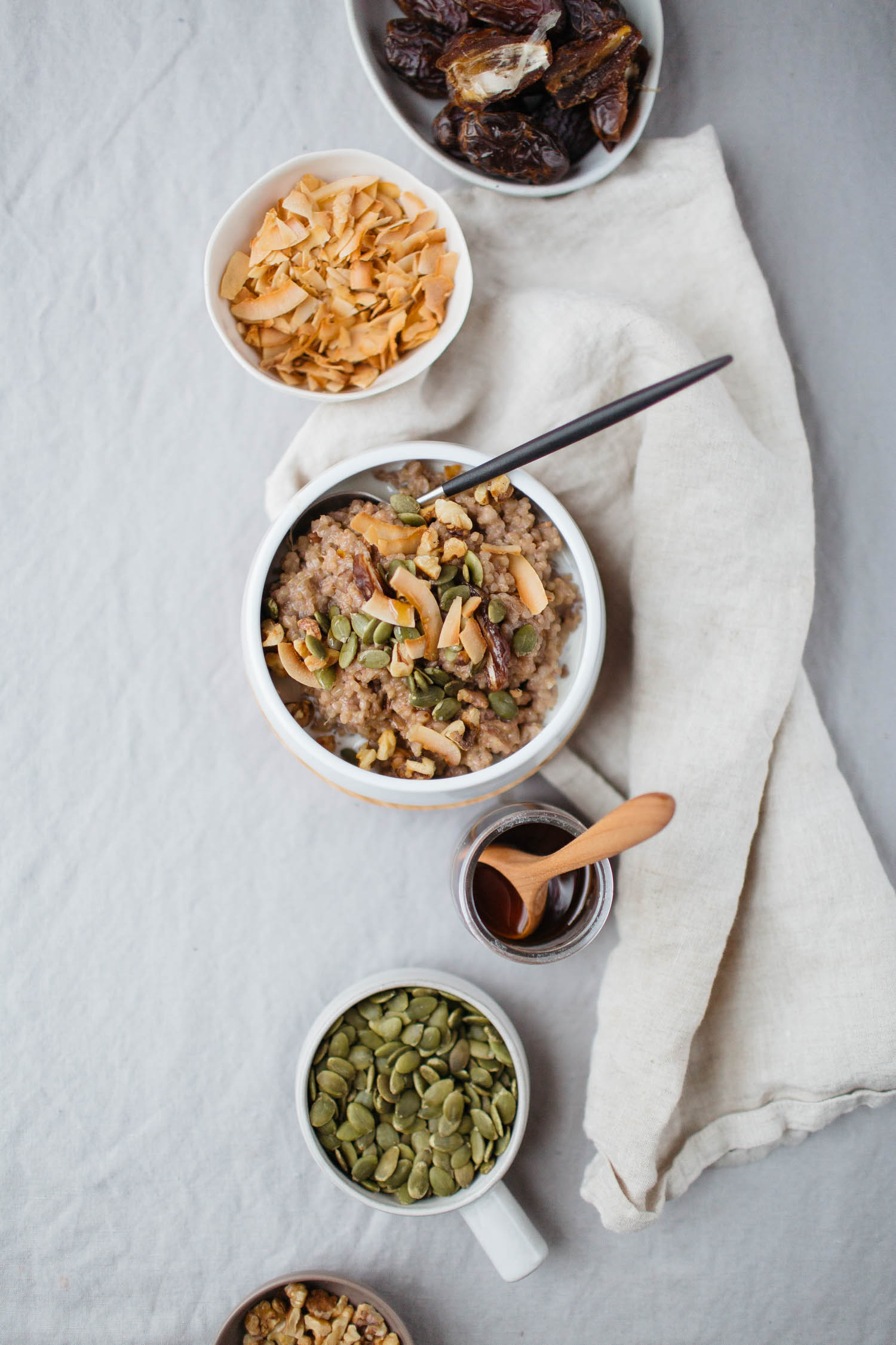 Two-Grain Coconut Date Porridge