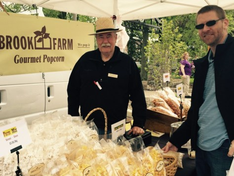 "Jeremy getting his popcorn from Rich Brook of Brook Farm. And then there was all that ""Butter Toffee"" corn. Yummmmm."