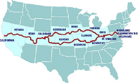 Philip King's route on his Run for Lisa King.