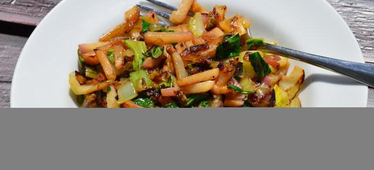 CSA Greens: Bok Choi & Radish Stir Fry