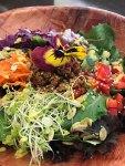 lentils over quinoa