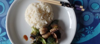 Chinese for Beginner: Reis mit Brokkoli Champignon Duo