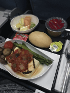 A sample #vegan meal on Turkish Airlines.