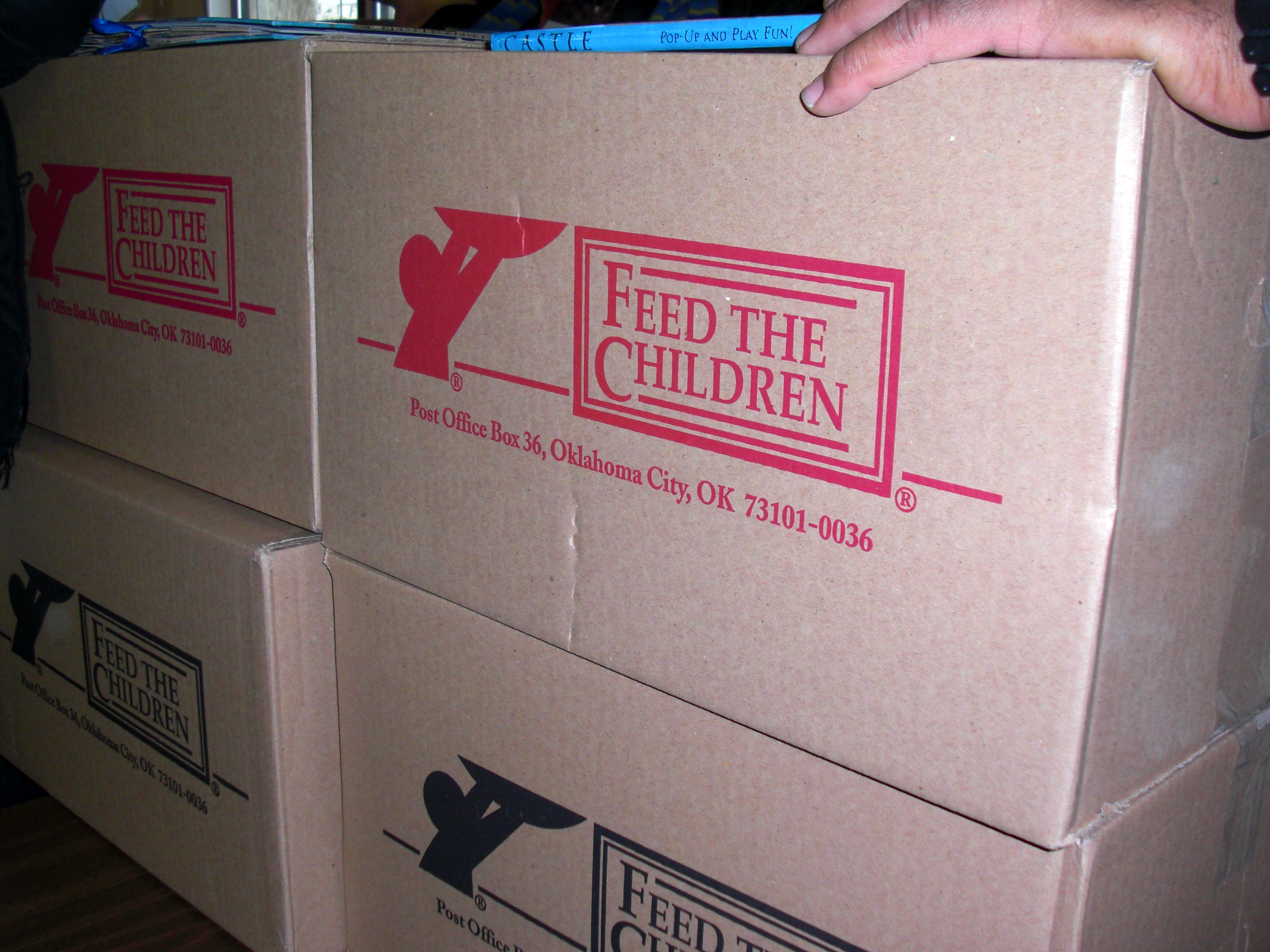 Feed the Children Food Boxes