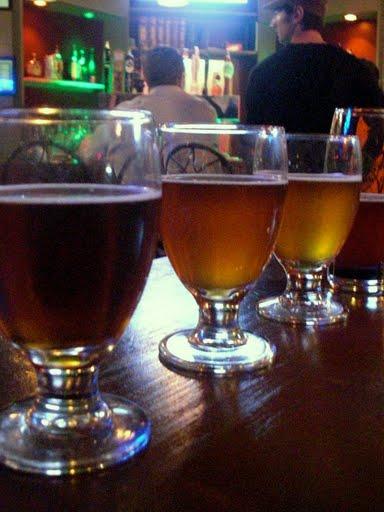 flight of pumpkin beers