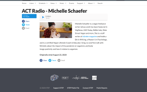 NPR Interview: Vegan& Body Positive
