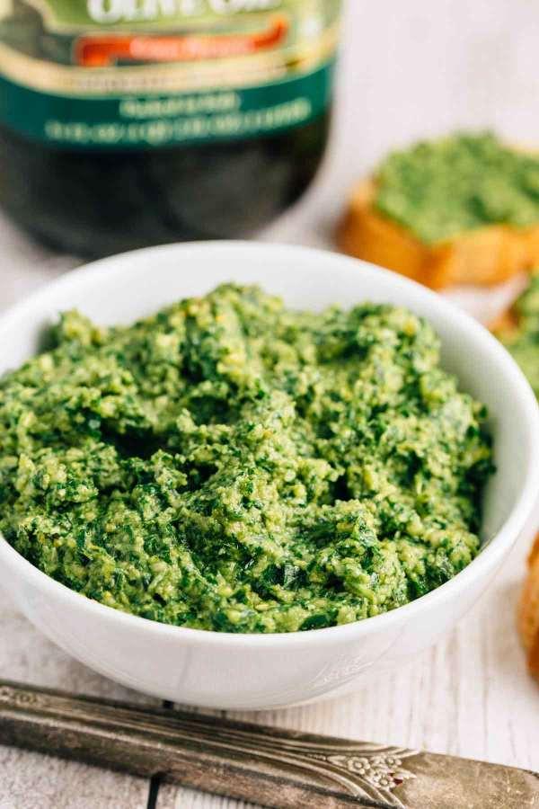 Arugula Basil Pesto (Vegan, Gluten Free)