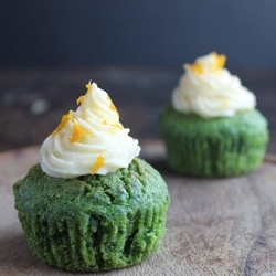 Kale and Orange Cupcakes