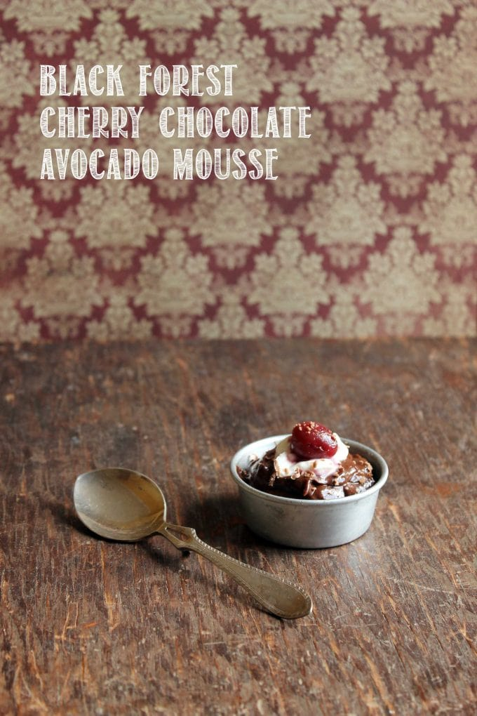 Black Forest Cherry Chocolate Avocado Mousse | Veggie Desserts