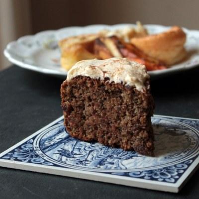 Roast Dinner Waste Cake (Maple and Cinnamon Cake with Carrot, Parsnip and Potato Peelings) | Veggie Desserts