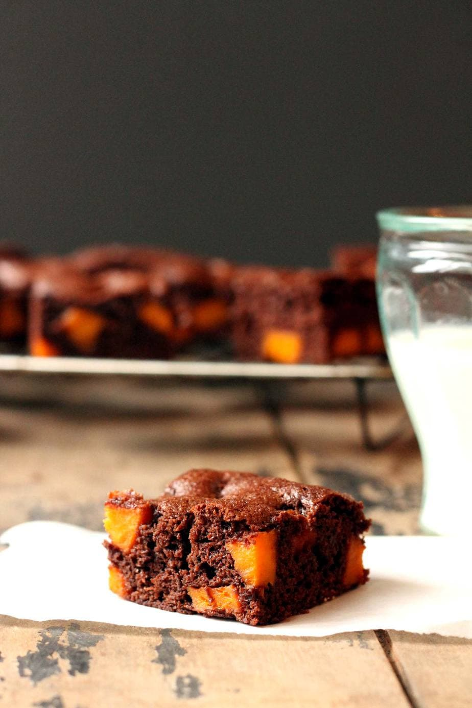 Coconut Oil Brownies with Maple Roasted Sweet Potato   Veggie Desserts