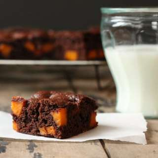 Coconut Oil Brownies with Maple Roasted Sweet Potato | Veggie Desserts