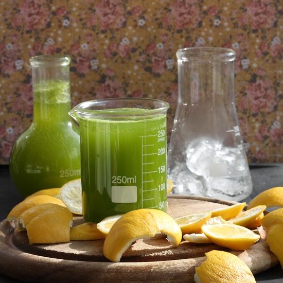 Sparkling Kale Lemonade | Veggie Desserts