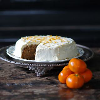 Carrot Chinese Five Spice Cake with Orange Icing