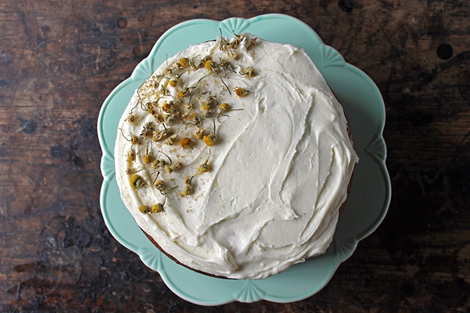 Chamomile Cake with Salted Honey Buttercream   Veggie Desserts Blog