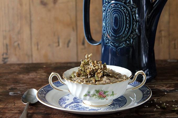 Maca Oatmeal with Honey Seed Shards   Veggie Desserts Blog